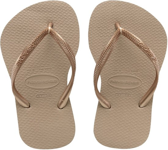 Havaianas Slim Slippers Dames -  Rose Gold - Maat 39/40