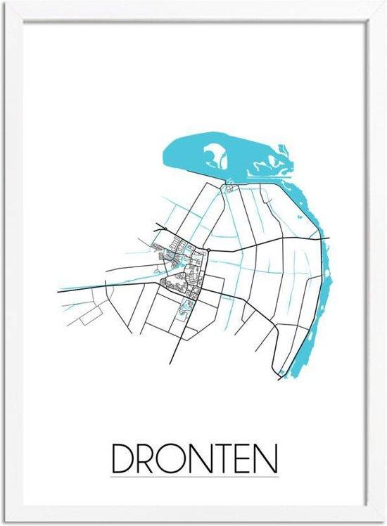 bol.com   DesignClaud Dronten - Stadskaart - Plattegrond - Interieur ...