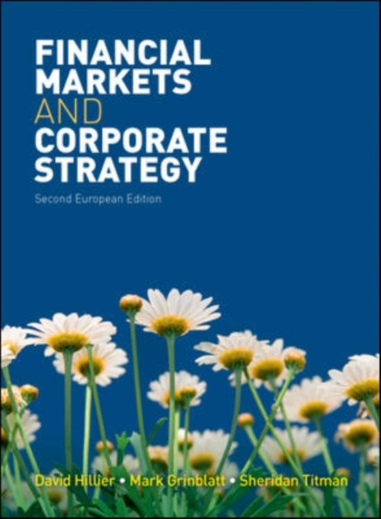Financial Markets and Corporate Strategy European edition