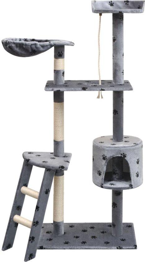 vidaXL Kattenkrabpaal met sisal krabpalen 150 cm pootafdrukken grijs