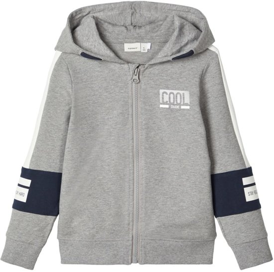Name-it Jongens Cardigan Bosse Grey Melange