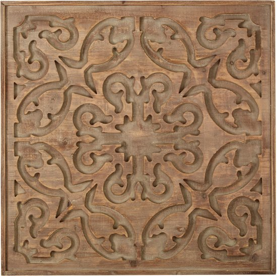 Houten Panelen Wanddecoratie.Bol Com Art For The Home Houten Paneel Bazaar Dark