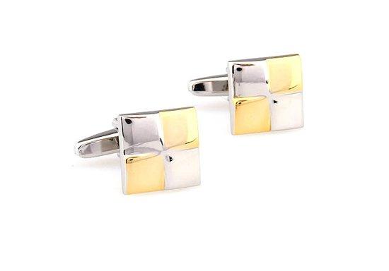 JewelKing Manchetknopen – luxe, zilverkleurig- en goud kleurig Manchetknopen