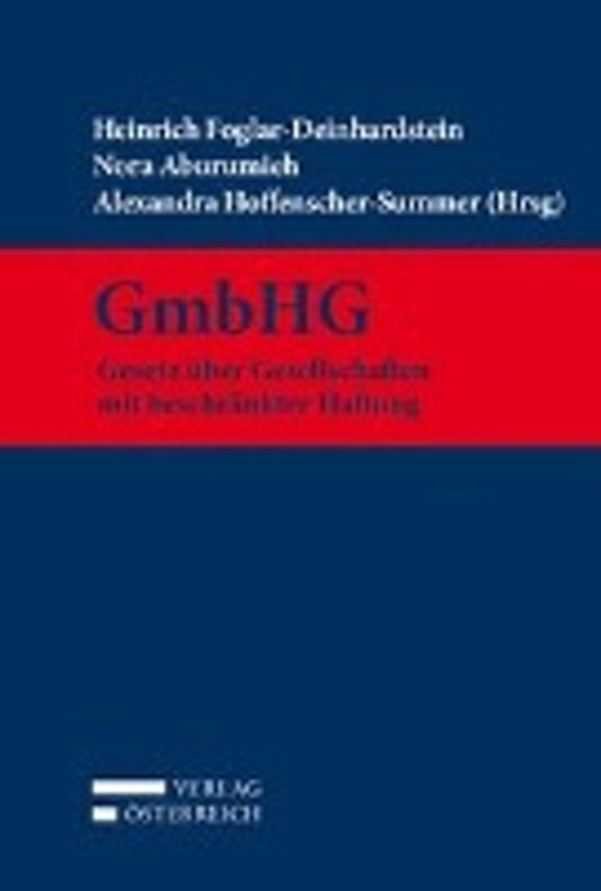 GmbHG - Gesetz über Gesellschaften mit beschränkter Haftung