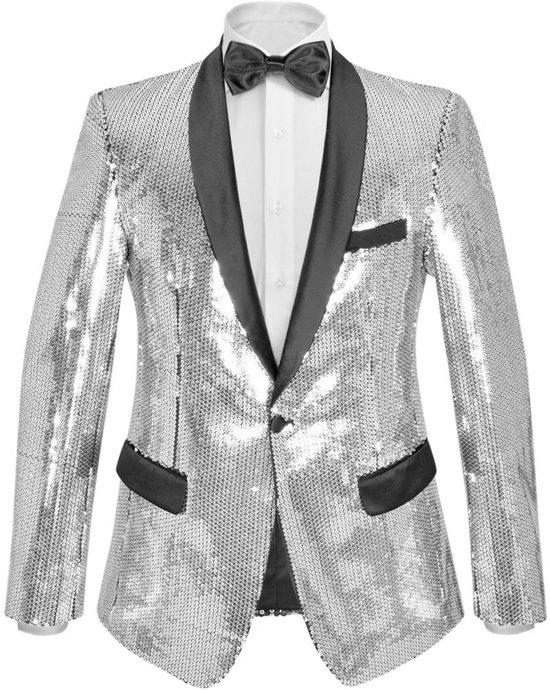 zilveren blazer