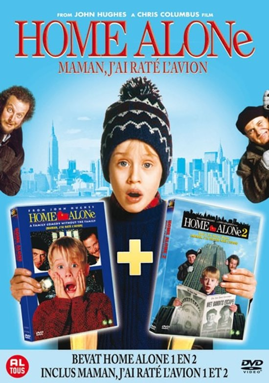 DVD cover van Home Alone 1 & 2