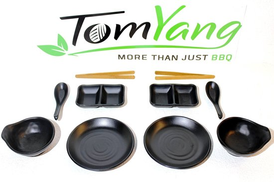 TomYang BBQ Asian style Serviesset 10-delig