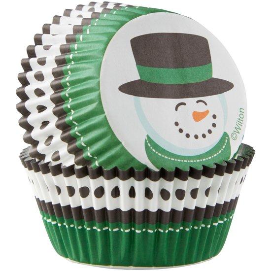 Wilton Cupcake vormpjes Sneeuwman pk/75 Valentinaa