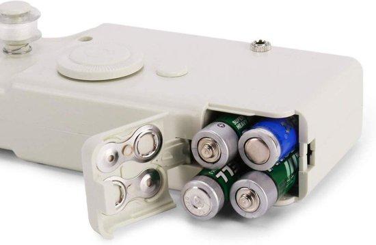 TECHSHARK Mini Handnaaimachine | Draadloos en Compact | Inclusief Garen | Reis Naaimachine