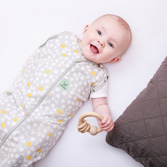 0.2 TOG - Zomer Ergococoon Swaddle + Sleep Triangle pops Maat: 3-12 mnd