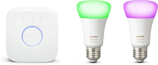 Philips Hue Starterspakket - White and Color Ambiance - E27 - 2 lichtbronnen