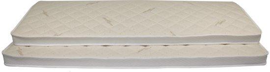 Matrassenmaker - Topmatras Organisch Katoen 180x200x6 Koudschuim HR55 hard topper