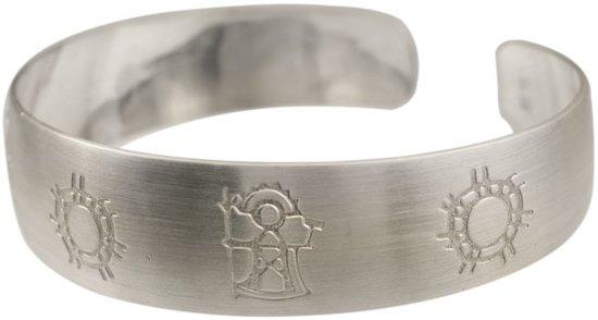 Armband, Zilveren lichten van het noorden. Medium