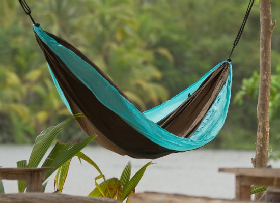 Reishangmat 'Colibri' turquoise dubbel