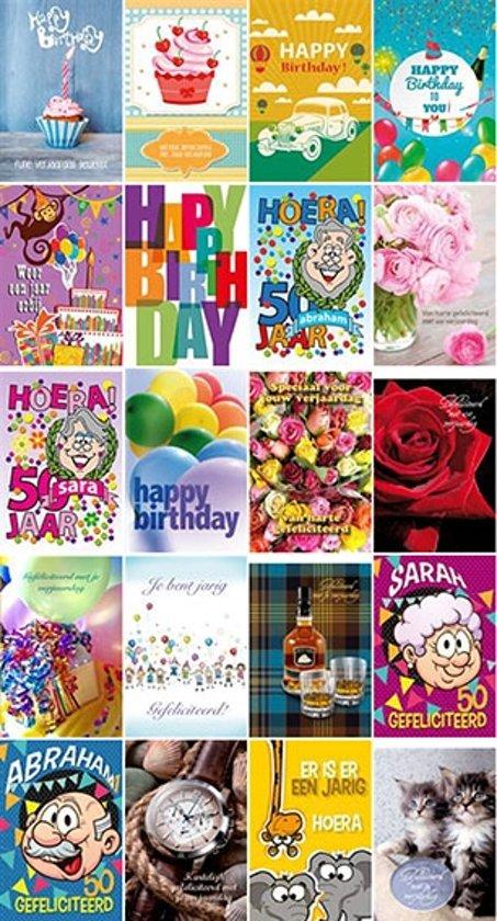 Bol Com Set 20 Wenskaarten Verjaardag Happy Birthday 11 5 X 17