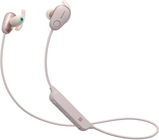 Sony WI-SP600N - Draadloze sportoordopjes met Noise Cancelling - Roze