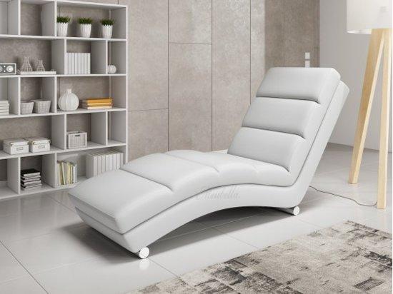Chaise Longue Leer : Bol chaise longue ibiza wit leer