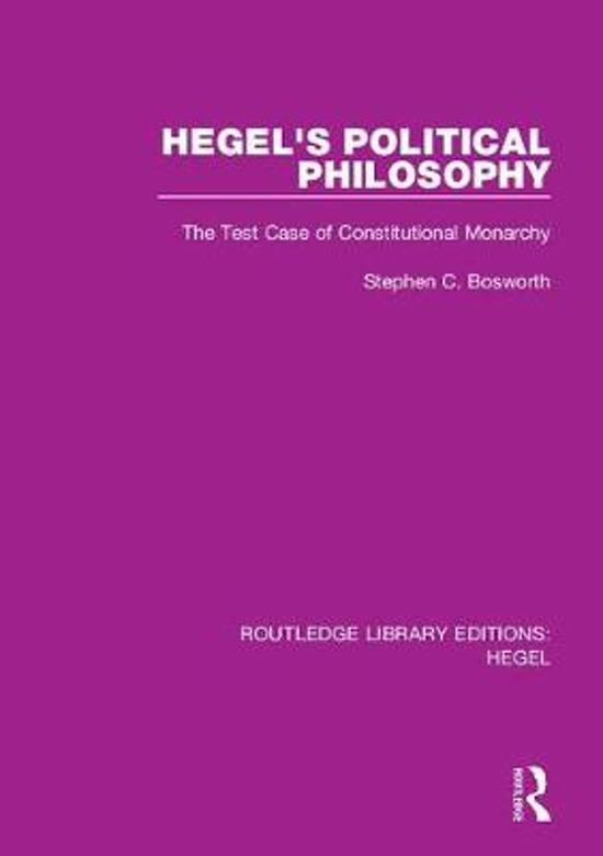 Hegel's Political Philosophy