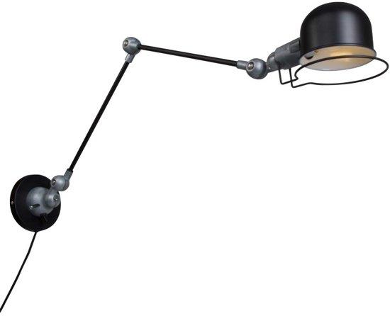 Stoere wandlamp lumidem davin zwart for Stoere wandlamp