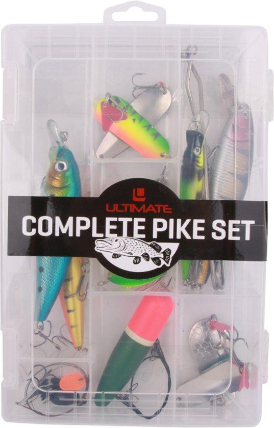 Ultimate Pike Set met kunstaas, takels, dobbers en meer - 18-delig - inclusief tacklebox