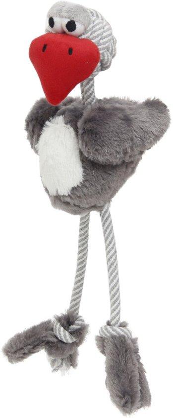 Adori Flostouw Vogel - Hondenspeelgoed - 16 x 41 cm - Grijs