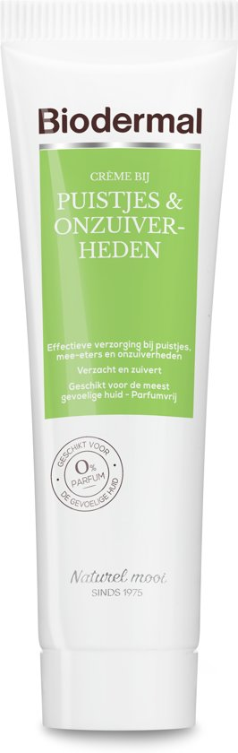 Biodermal Acne crème - Acne, mee-eters en puisten verminderen en voorkomen - tube 30ml