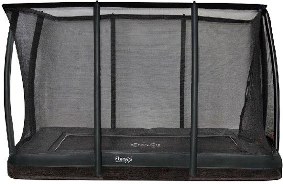 Etan Inground Premium Gold Combi Deluxe Trampoline set 310 x 232 cm - inc. Deluxe Veiligheidsnet - Grijs - Rechthoekig