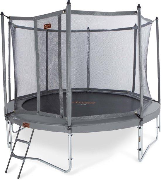 Avyna trampoline PRO-LINE 14 + net boven + ladder - grijs