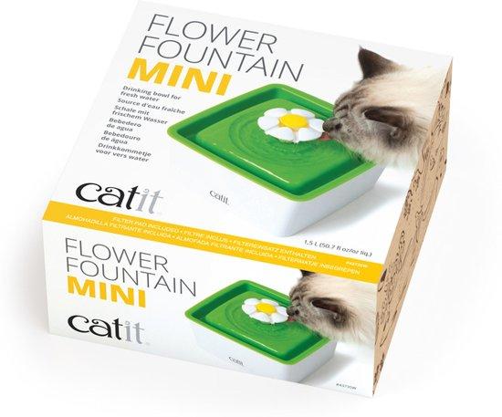 Catit Senses Drinkfontein Mini Bloem - Wit/Groen - 18,2 x 18,2 x 12 cm