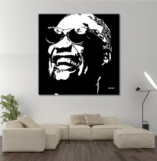 Ray Charles Canvas Art 80/80cm