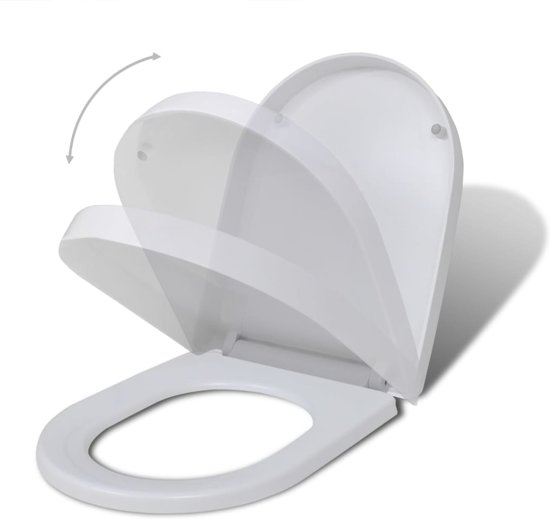 vidaXL Toiletbril met soft-closedeksel 2 st kunststof wit