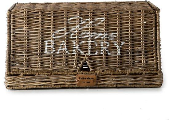 Rivièra Maison - Rustic Rattan Home Bakery Bread Box - Manden en boxen - Naturel - Rattan