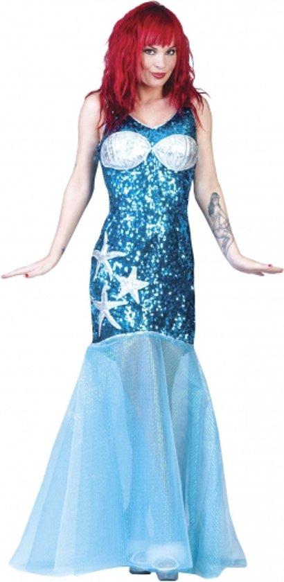 Blauwe zeemeermin jurk