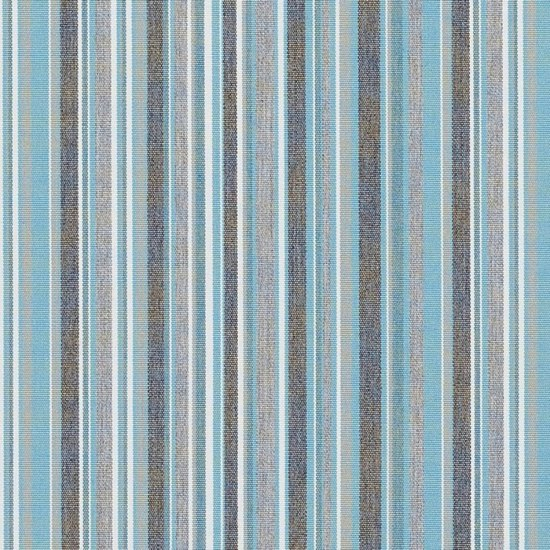 SUNBRELLA stripes porto blue chiné stof