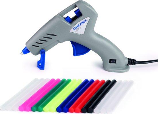 Dremel 930 Lijmpistool - Lijmstick � 7 mm - Inclusief 3x 7 mm lijmsticks voor lage temp. en 3x 7 mm lijmsticks voor hoge temp. en 12x 7 mm kleurensticks