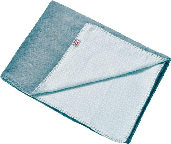 Lodger Wiegdeken - Dreamer Scandinavian Flannel - Blauw - 100x150 cm