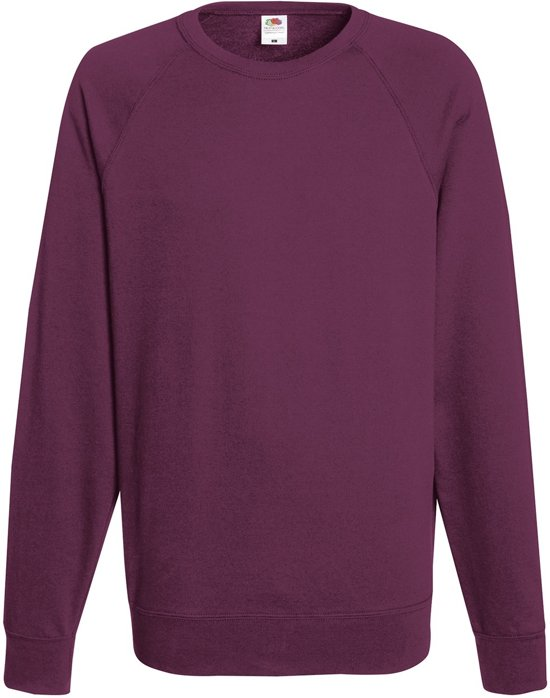 Fruit of the Loom Sweater Raglan Sweat Ronde Hals Bordeaux maat S