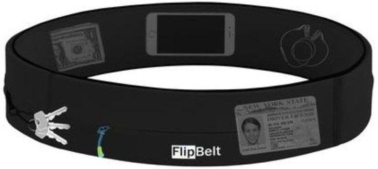 Flipbelt Rits Zwart - Running belt - Hardloopriem - L