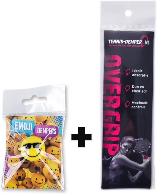 1x Tennisdemper + 1x Overgrip - tennis-demper.nl
