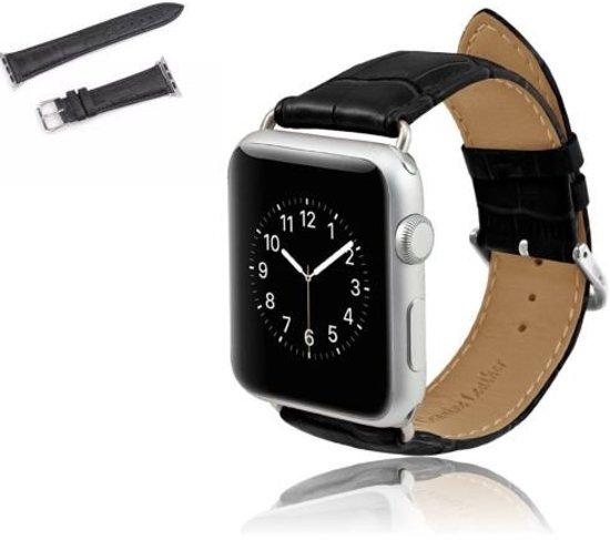 Lederen Horloge Band Voor Apple Watch Series 1/2 - Armband / Polsband / Strap Bandje / Watchband Voor de iWatch - 42MM Zwart