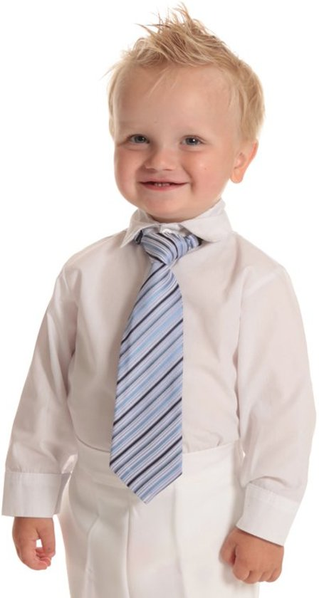 Baby overhemd lange mouw wit-80