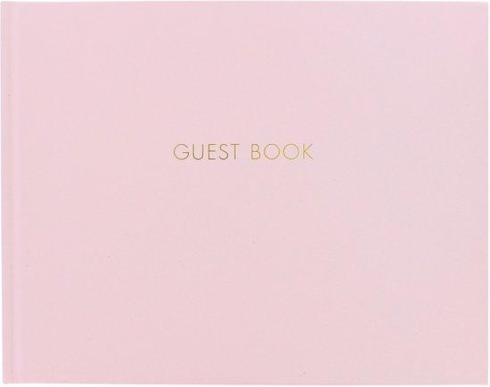 Bruiloft gastenboek roze Valentinaa