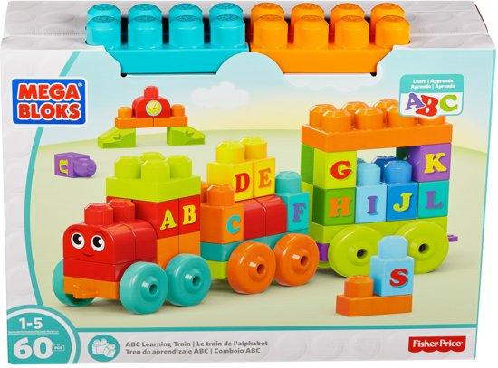 Mega Bloks First Builders ABC Alfabet Trein - Constructiespeelgoed