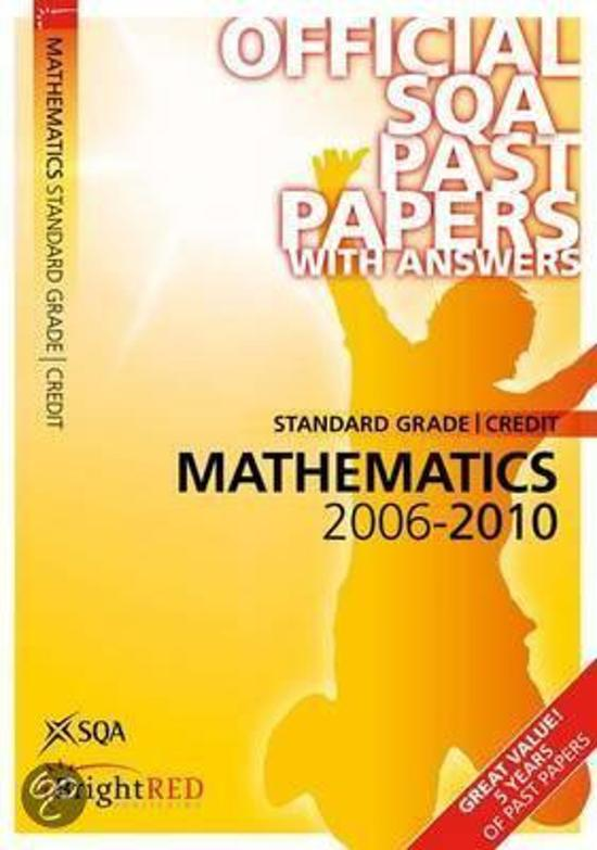 Maths Credit (St Gr) SQA Past Papers