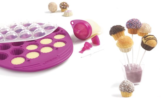 Mastrad Giftset Cupcake Pop Molds