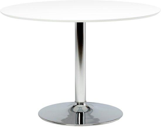 Bol.com 24designs ronde tafel esma Ø110xh74 cm wit tafelblad