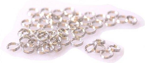 Splitringen - voor maken sieraden - Diameter 5mm - Zilverkleurig - Dielay