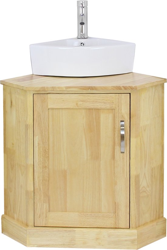 Bolcom Blupp Solid Oak Corner Bathroom Vanity Unit Corner
