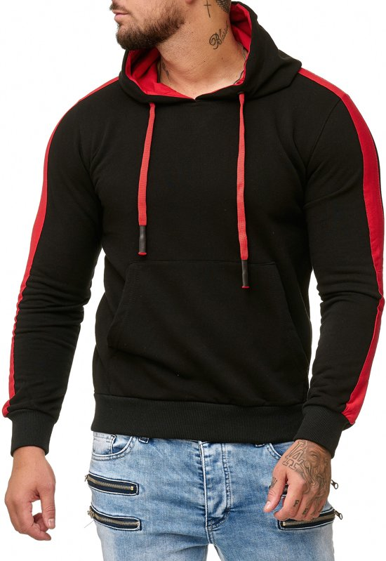 Face Rood South Sweater Heren North Streep 1 The En Trui amp; Zwart q7qwSAgv