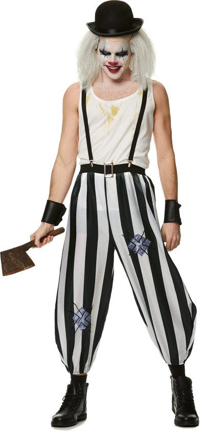 Halloween Kostuum | Killer clown kostuum heren | Deluxe | Maat S